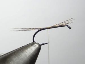 Selecteer 4-6 Coq de Leon fibers en bind deze in. Maak het staartje ongeveer net zo lang als de totale body.