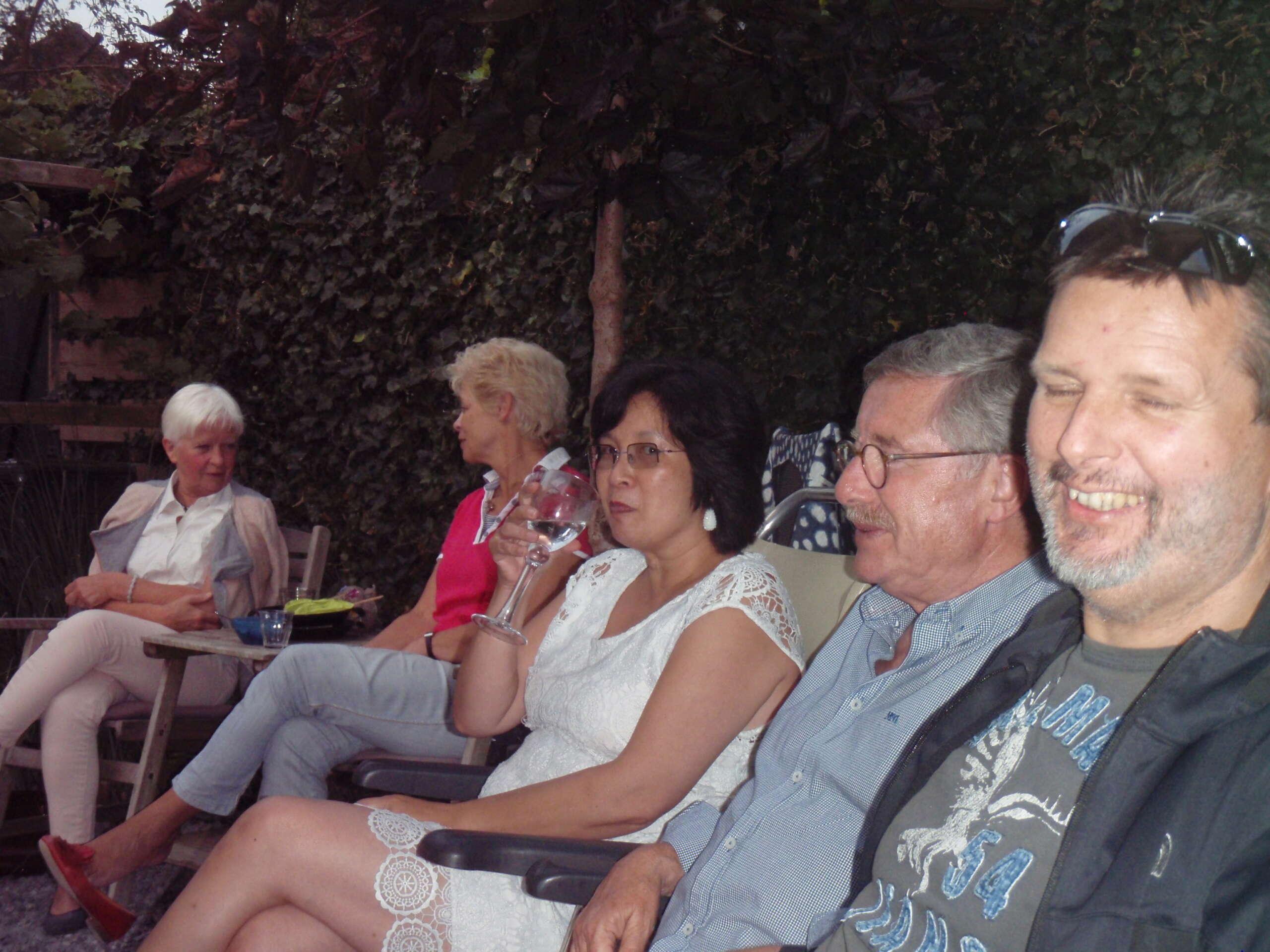 Club BBQ bij Eduard en Moniek.